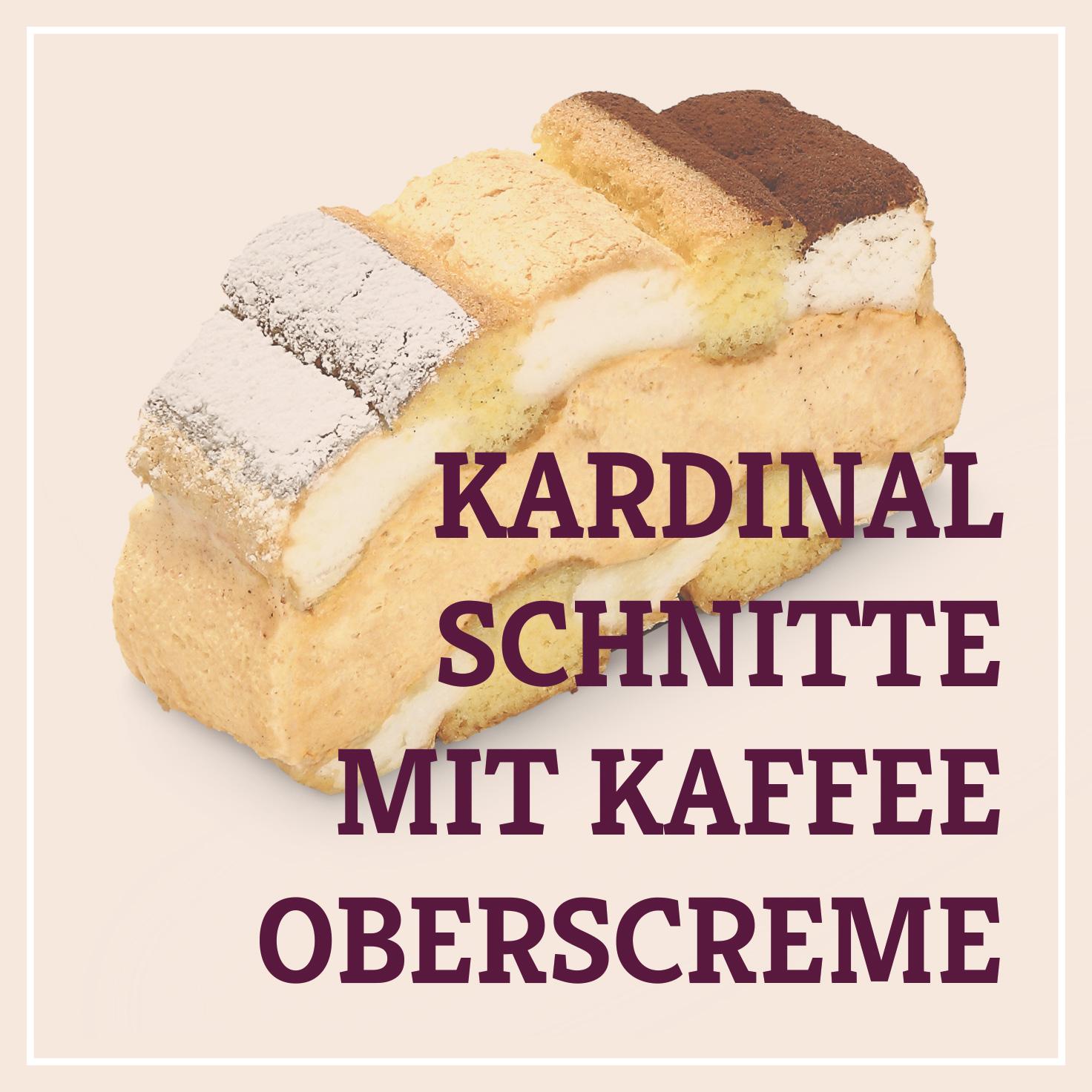 Heiss & Süß - Kardinalschnitte mit Kaffeeoberscreme