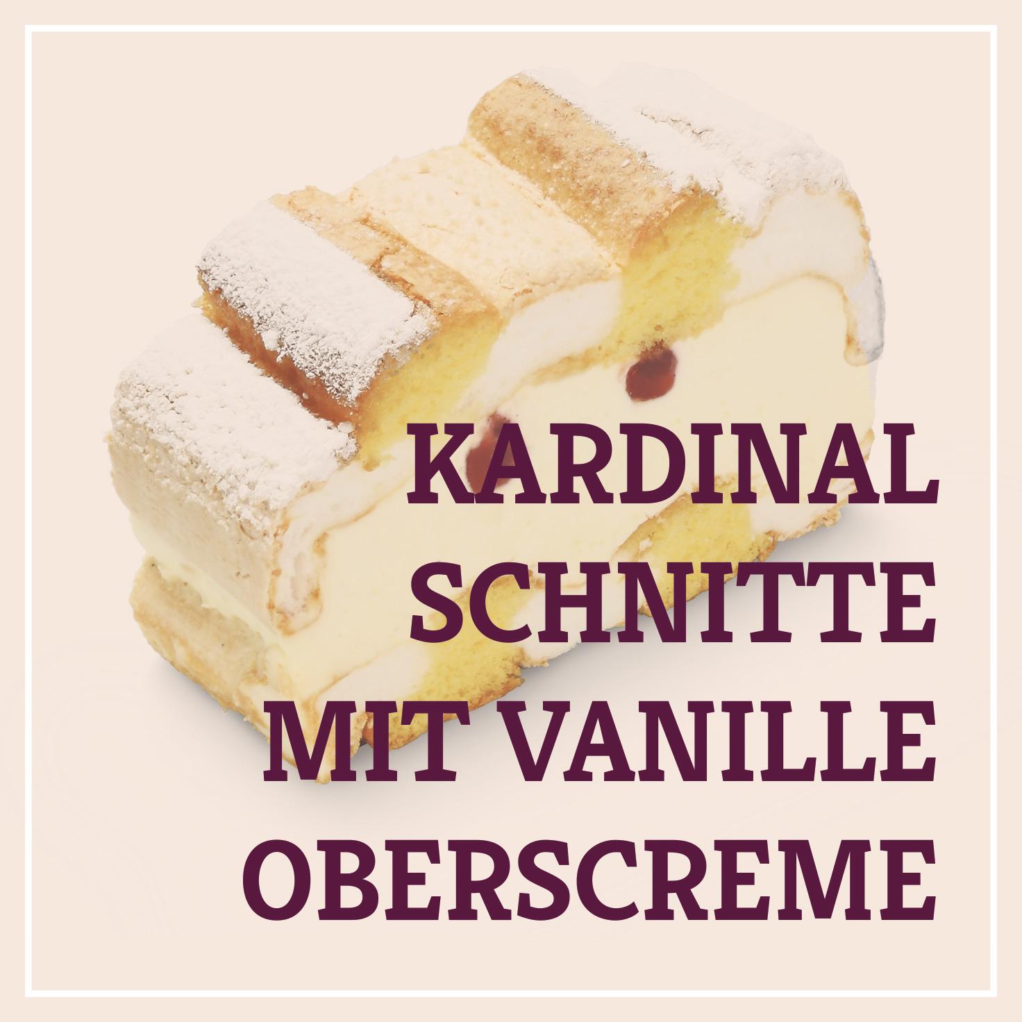 Heiss & Süß - Kardinalschnitte mit Vanilleoberscreme