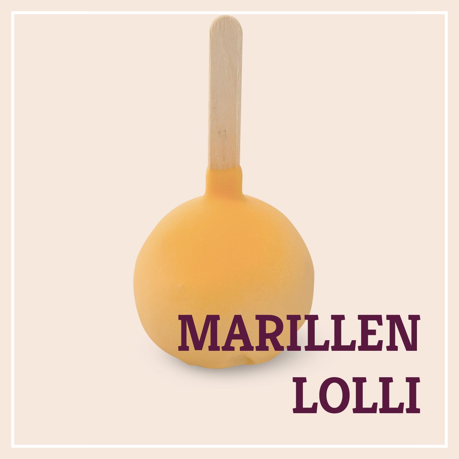 Heiss & Süß - Petit Fours - Marillen-Lolli
