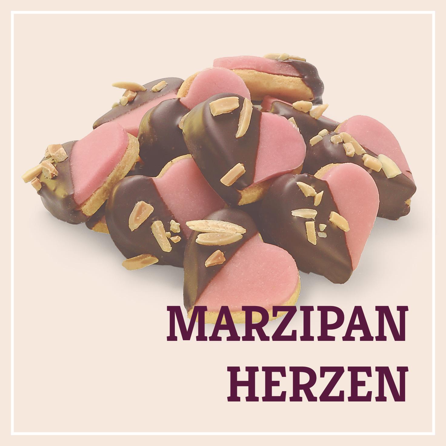 Heiss & Süß - Marzipanherzen