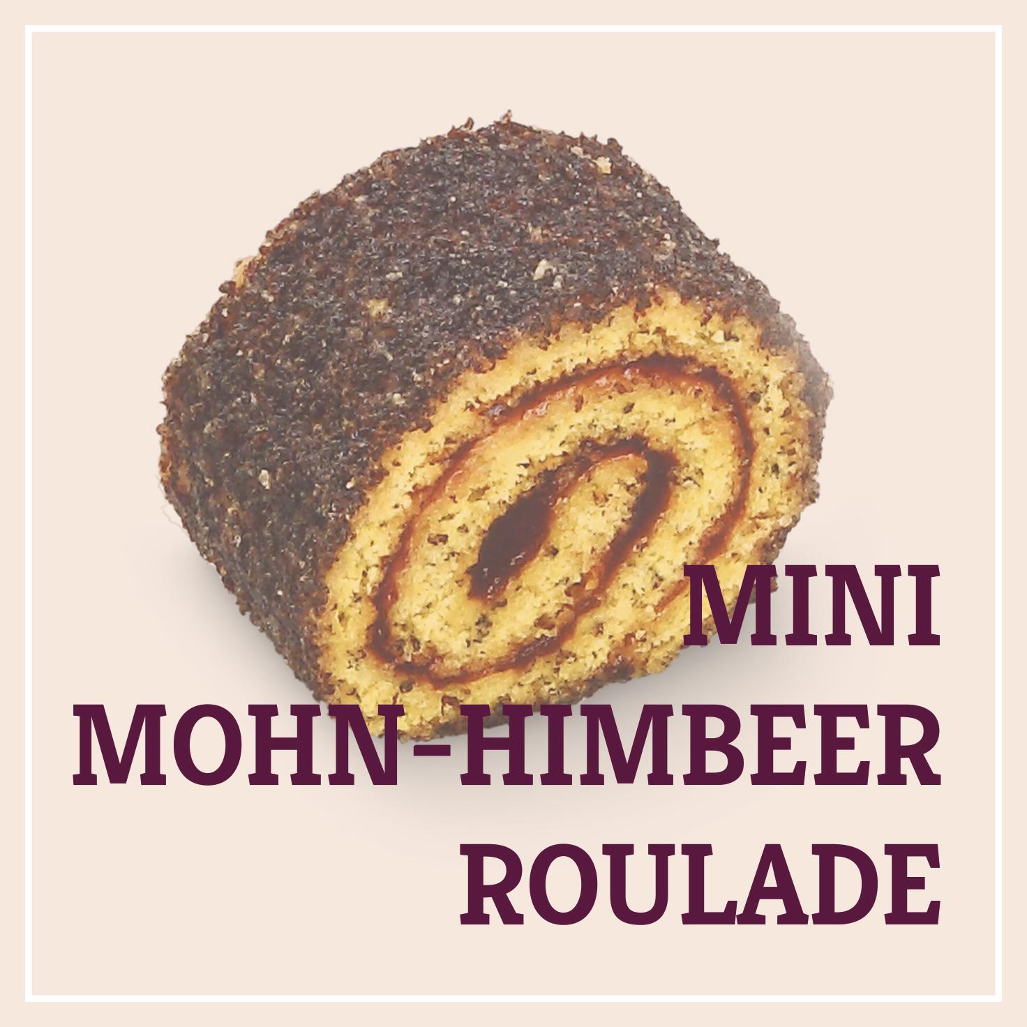 Heiss & Süß - Mini-Mohn-Himbeerroulade