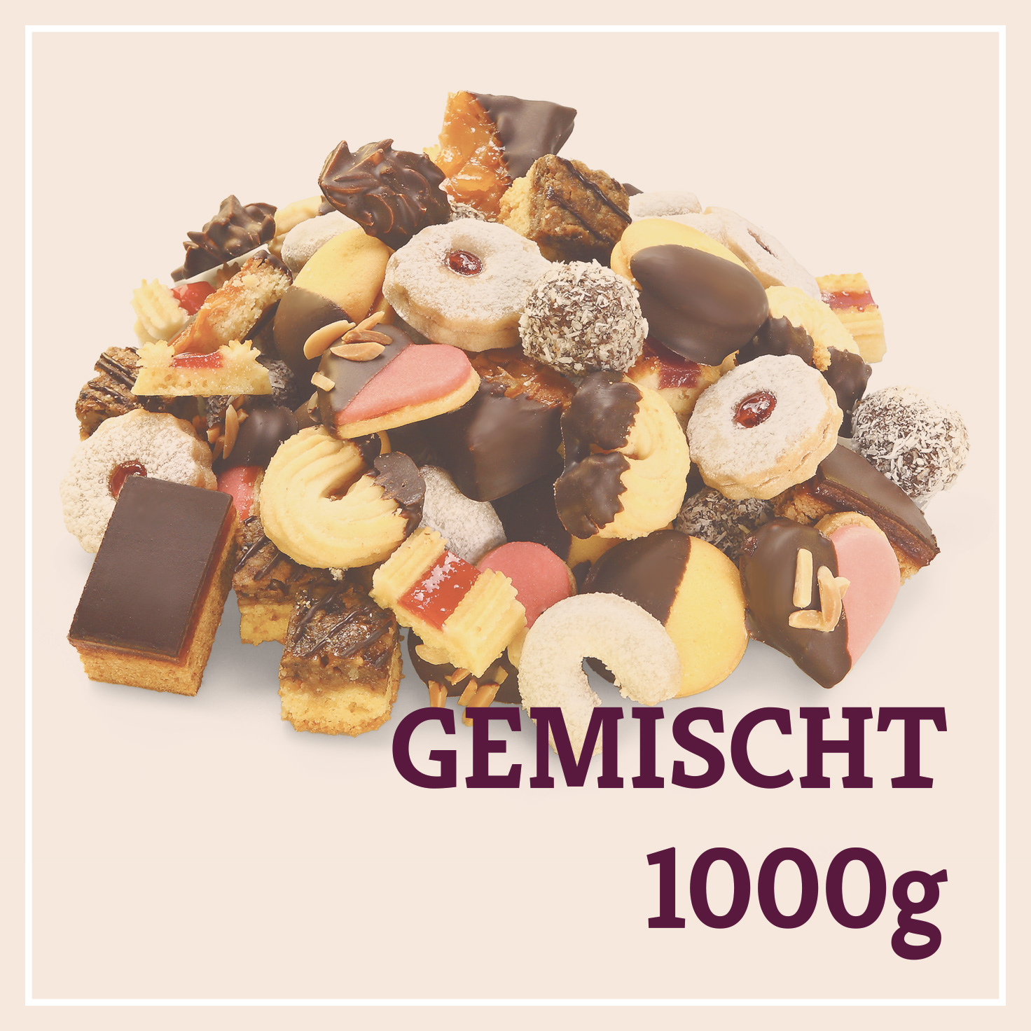 Heiss & Süß - Teebäckerei gemischt 1000g in der Plastikschale