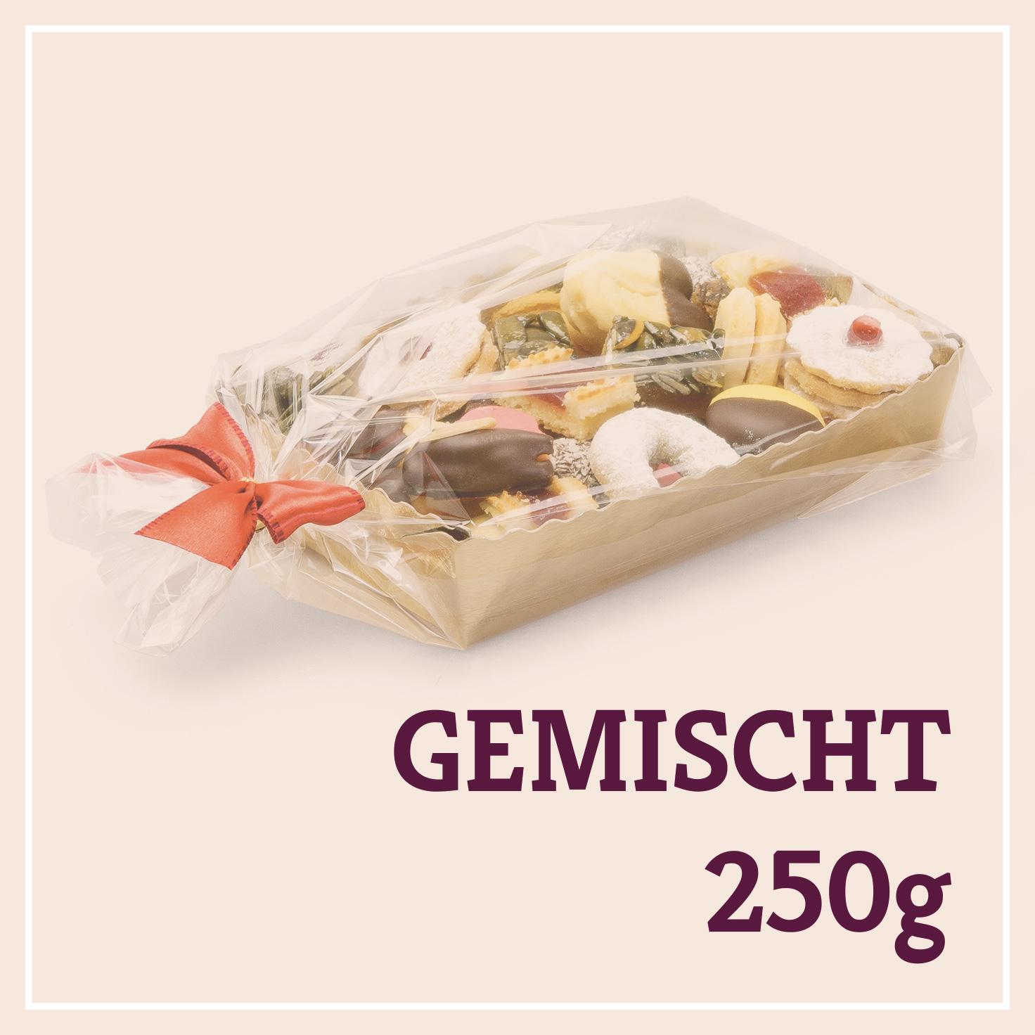 Heiss & Süß - Teebäckerei gemischt 250g in der Goldschale